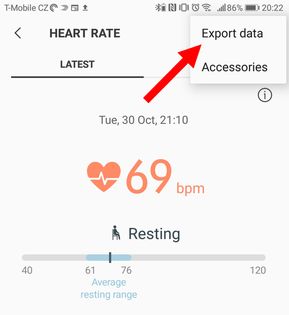 Data playground - Resting heart rate trend from Samsung Health app data